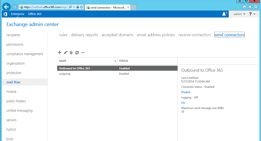 Office 365 Hybrid Configuring Using Windows Azure – Part 5 | SMTP
